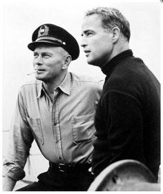 Yule Brenner and Marlon Brando
