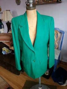 #80s #Vintage @Kawania Nolan Johnson Woolen Mills #Wool #Blazer #Emerald #Green #Women's Size 8 on @eBay! http://r.ebay.com/C1KWUF  #Fashion #Retro #Style
