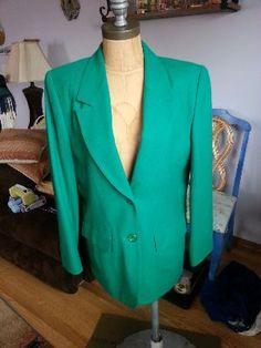 #80s #Vintage @Pendleton Woolen Mills #Wool #Blazer #Emerald #Green Women's Size 8 on @eBay! http://r.ebay.com/wR1gYL #Retro #Fashion #Style