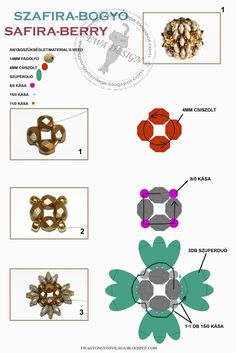 Best Seed Bead Jewelry  2017  Safira berry pattern   Seed Bead Tutorials
