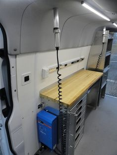 Workbench installed in Sprinter van