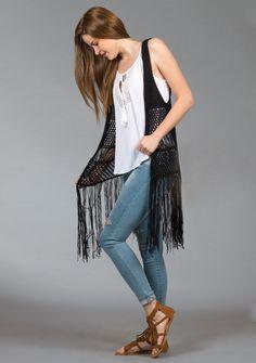 Crochet Sweaters, Crochet Tops, Tassel Necklace, Kimono Top, Jeans, Outfits, Women, Fashion, Templates