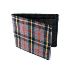wallet made from an old plaid shirt by Jetsam - $42