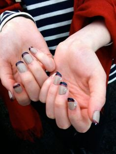 hmmm i dont know why but id call it mod! retro works too! ....love it so much i love the reverse  manicure trend!