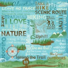 Take a Hike Collage - 12x12 Scrapbooking Paper