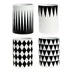 Geomtery cup - stripe - Ferm Living