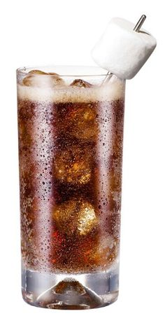 1 part marshmallow vodka mixed with 2 parts root beer. garnish straw with…