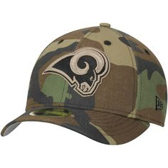 437c50537 Men s Los Angeles Rams New Era Woodland Camo Low Profile 59FIFTY Fitted Hat