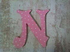 Handpainted Wooden Wall Letter - Spotty - 'N' - Victorian - Wedding - 6 inch £6.00