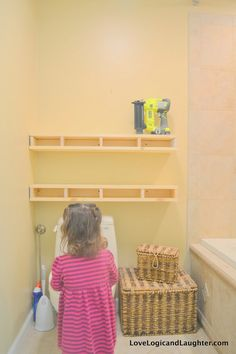 To start building the shelves you need to measure your space and first figure out how long you would like the finished shelves. That is what makes DIY projects the best – they can be built to suit your exact needs! The shelves in our bathroom are 38″ long. I will provide the measurements I… Continue reading Chunky Floating Shelves – A Tutorial