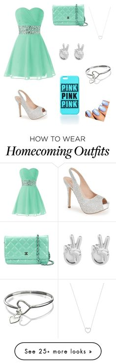 """""""party!"""" by dayanajerez22 on Polyvore featuring Lauren Lorraine, Chanel, Tiffany & Co. and Rock 'N Rose"""