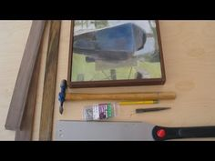 how to add a simple strip frame to a stretched canvas | by Jon Peters - YouTube