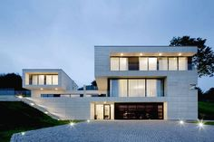Designed by architects from Studio Pha, the villa in Děčín, Czech Republic, is a perfect example of modern architecture. Residential Architecture, Contemporary Architecture, Interior Architecture, Contemporary Homes, Futuristic Architecture, Modern Villa Design, Exterior Design, Mansions, Czech Republic