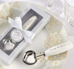 """""""Scoop of Love"""" Ice Cream Scoop - #Wedding Favour Here's the scoop! Your guests will absolutely adore this ice cream scoop wedding favour - it's practical and perfect for all those ice cream lovers out there."""