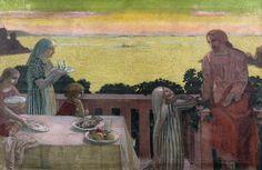 """Maurice Denis, """"Perros-Guirec, Jésus chez Marthe et Marie"""", 1917. Estimation: 80 000-100 000 euros."""