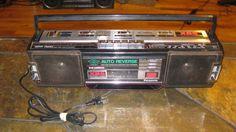 Vintage Panasonic 1980'S Boombox. Rx-Fm40 With Xbs cassette player, radio #Panasonic