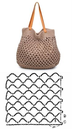 De Croche De Croche barbante De Croche com grafico De Croche de mao De Croche festa - Bolsa De Crochê Free Knitting, Knitting Patterns, Crochet Patterns, Bag Patterns, Crochet Handbags, Crochet Purses, Crochet Bag Tutorials, Crochet Projects, Crochet Stitches