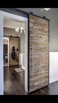 Love the modern barn door idea