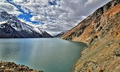 Cajón del Maipo a canyon located in Chile - El Yeso is a reservoir located in the Andes, in the Santiago, Chile.