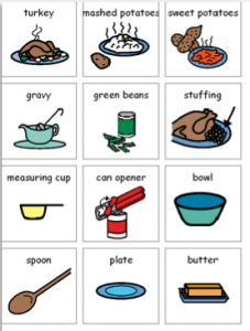 Free Thanksgiving Picture Vocabulary!