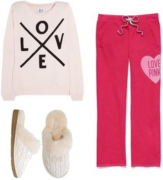 Valentine's Day Outfit for a Night In! YES! this is what I need!