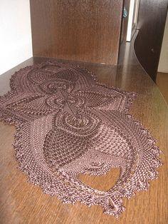 Free Crochet Doily Patterns, Crochet Mat, Crochet Carpet, Crochet Doilies, Free Pattern, Tapete Doily, Plate Mat, Pineapple Crochet, Crochet Curtains
