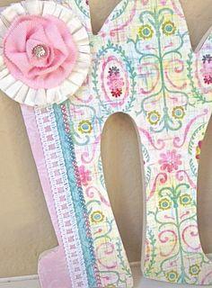Custom Wooden Nursery Letters Baby Girl Nursery por TheRuggedPearl