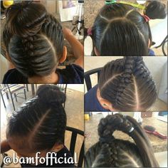 Jumbo braids into a bun