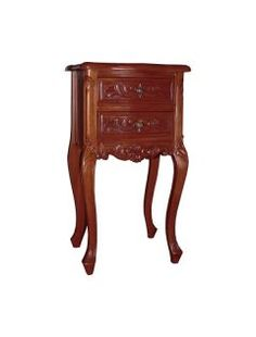 Versailles Mahogany Antique French Style Nightstand