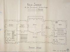 Villa Seigle. Plan du Premier étage