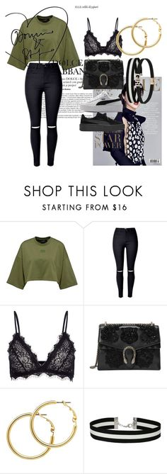 """Baby Fenty"" by daniezzle on Polyvore featuring Anine Bing, Gucci, Puma, Melissa Odabash, Miss Selfridge and oversizedclothes"