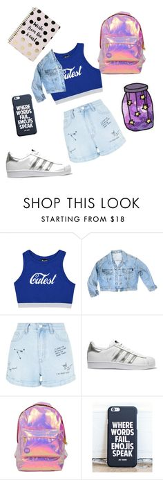 """""""♡♡"""" by alexandraanton ❤ liked on Polyvore featuring GUESS, New Look, adidas Originals, Miss Selfridge, Boohoo and everyday"""