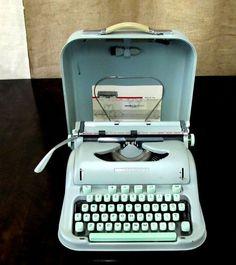 RARE Vintage 1950s Hermes 3000 Cursive Script Typewriter Swiss Made Eames Era....way too cool
