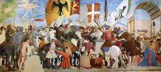 """Piero della Francesca: """"Batalla entre Heraclio y Cosroes II"""". Del ciclo de la """"Historia de la Veracruz""""."""