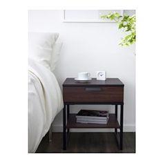 TRYSIL Nightstand, dark brown, black - dark brown/black - IKEA