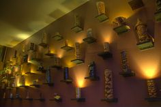 Tiki Mug Wall Display  Use treasured coffee mugs to display