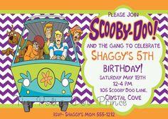 scooby doo birthday invitation ticket party invites printable 1st, Birthday invitations