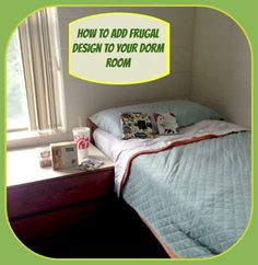 Frugal Decorating Ideas for a College Dorm Room #BacktoSchool #College
