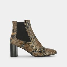 Funky reptile print boots - JONAK Bottine Talon, Bottines, Talons,  Chaussure, Cuir 7e7c14953bf