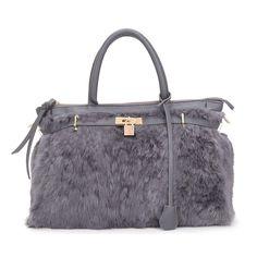 bd314ad5e 31.38  Aliexpress.com: Comprar ARPIMALA 2017 Invierno de lujo faux fur tote  bolso de las mujeres grandes moda natural soft hair lock bolsos famoso  diseñador ...