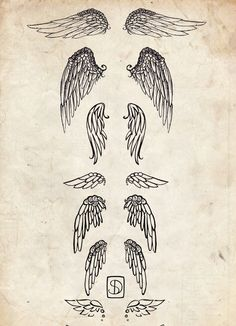 The first or second one but they are decaying and underneath are bat wings good back tattoo.