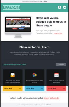 Platform – Newsletter HTML email marketing design