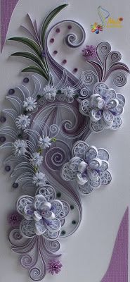 *QUILLING ~ Card, Flowers, neli