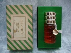 coffret flacon parfum ancien collection ma griffe Carven vintage french perfume