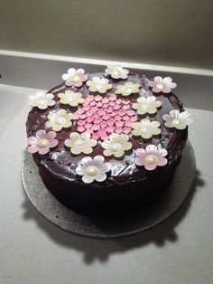 Chocolate cake made by me 23/07/14 for Ivanas Birthday surprise