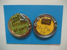 Father's Day Magnet lid Craft