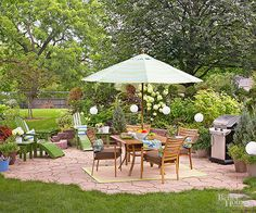 DIY a flagstone paver patio with these step-by-step instructions: http://www.bhg.com/home-improvement/patio/installation-how-to/flagstone-patio/?socsrc=bhgpin022415
