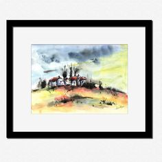 The forgotten village - original watercolor painting via Artualoriginalart. Click on the image to see more!