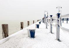 Balaton in winter Hungary, Wind Turbine, Most Beautiful, New Homes, Marvel, Winter, Paradise, Winter Time, Winter Fashion
