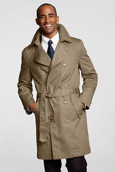 NQP Men's Trench Coat from Lands' End - $55 with free shipping!
